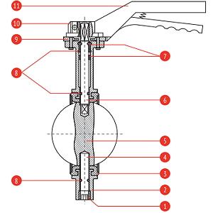 Материалы Затвор дисковый поворотный Рашворк 201 Ду80 Ру16 с ручкой
