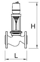 Чертеж Клапан регулирующий седельный TRV (25ч945нж) двухходовой с ЭИМ ST 230В