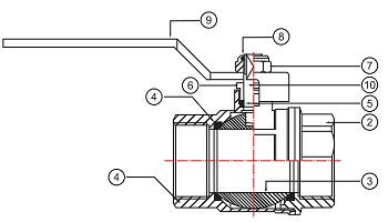 Материалы Кран шаровой Valtec Base VT.215 Ду25 Ру40 резьбовой В-Н с ручкой